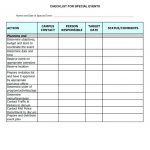 party planning checklist printable template