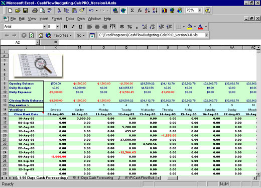 personal cash flow template excel budgeting