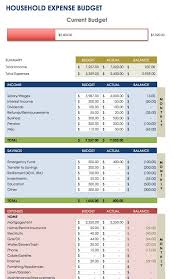 personal expenses budget template excel download