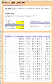 personal loan spreadsheet with changing balance download