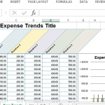 personal monthly budget template small business expense trends title