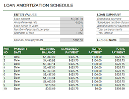 printable loan amortization schedule download