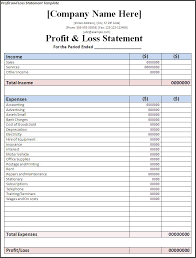 profit and loss statement for small business download
