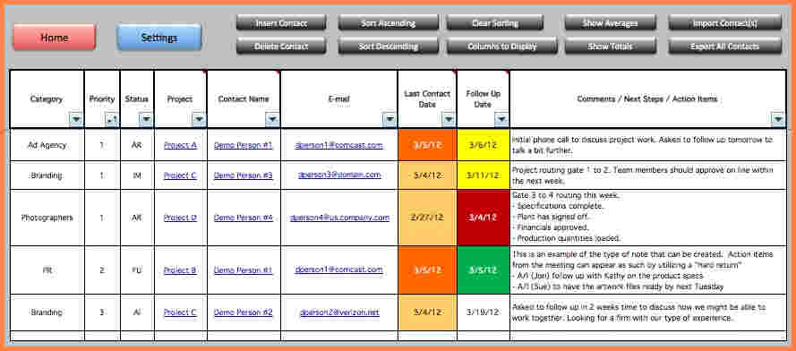 project management tracking spreadsheets