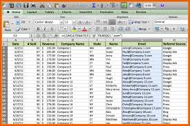 sample excel database free download