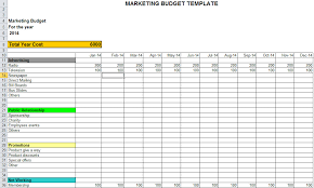sample marketing budget download