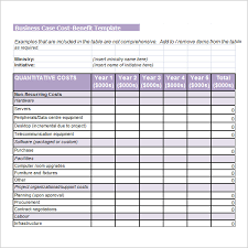 simple cost benefit analysis template excel download