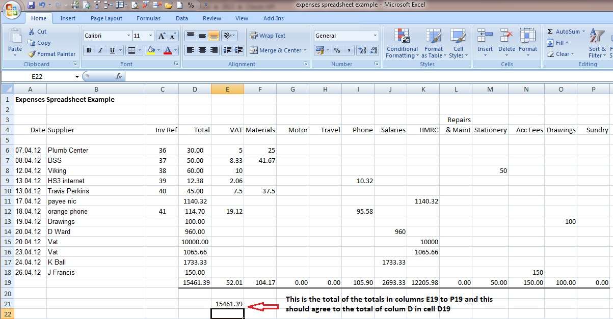 small business spreadsheets