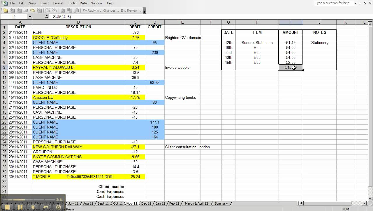 Excel spreadsheet for business expenses kubreforic excel spreadsheet for business expenses flashek Gallery
