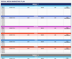 social media marketing campaign calendar template download