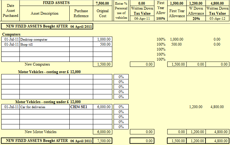 sole trader bookkeeping spreadsheet
