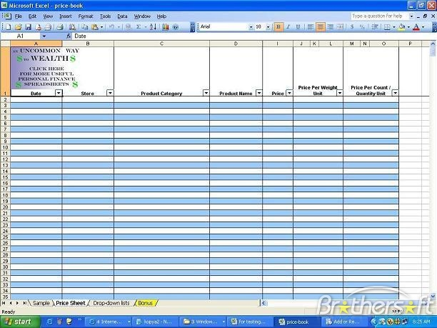 spreadsheet free download windows 7