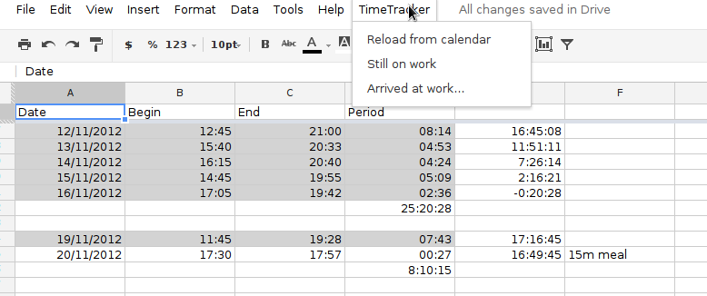 time tracking spreadsheet template