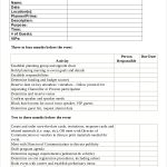 timeline and event planning checklist template