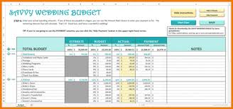wedding spreadsheet templates download