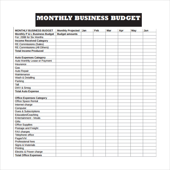 Weekly Business Budget Worksheet Template Pdf  Samplebusinessresume