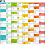 2018 excel calendar template download