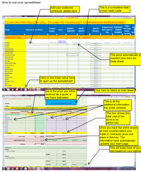 How to use your quote spreadsheet