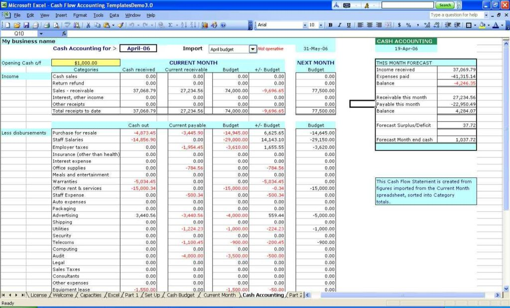 microsoft excel spreadsheet templates small business