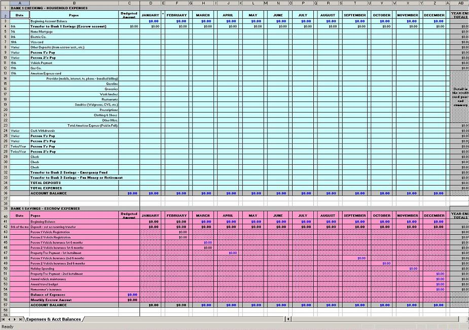 finance business budget template excel