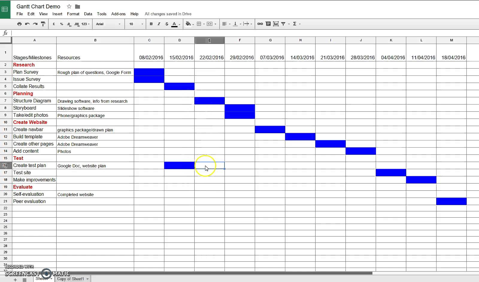 google sheets gantt chart plugin