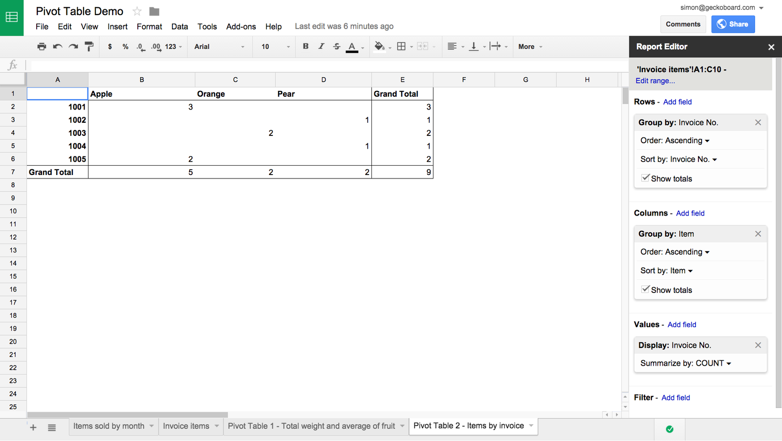 google sheets pivot table calculated field download