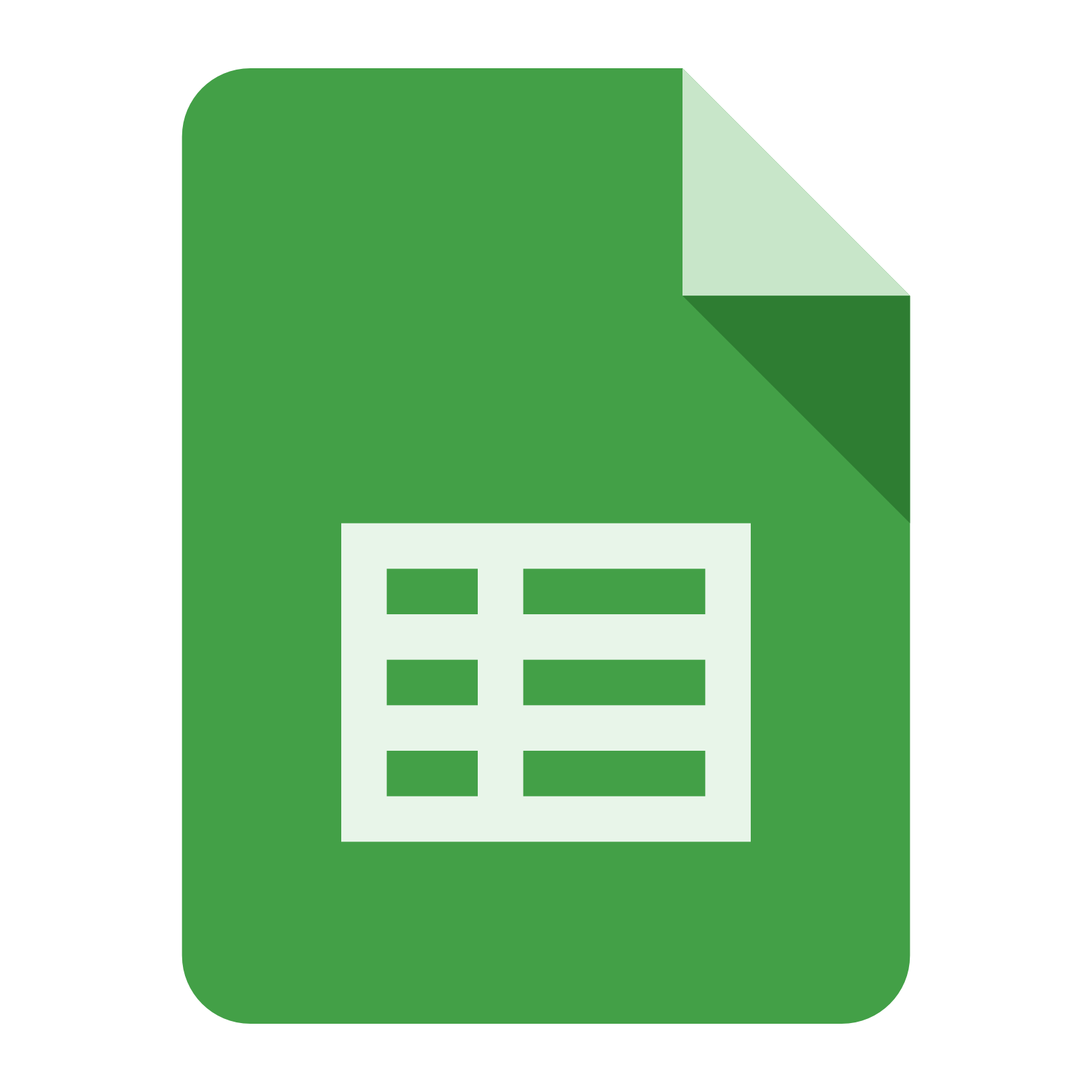 google sheets templates