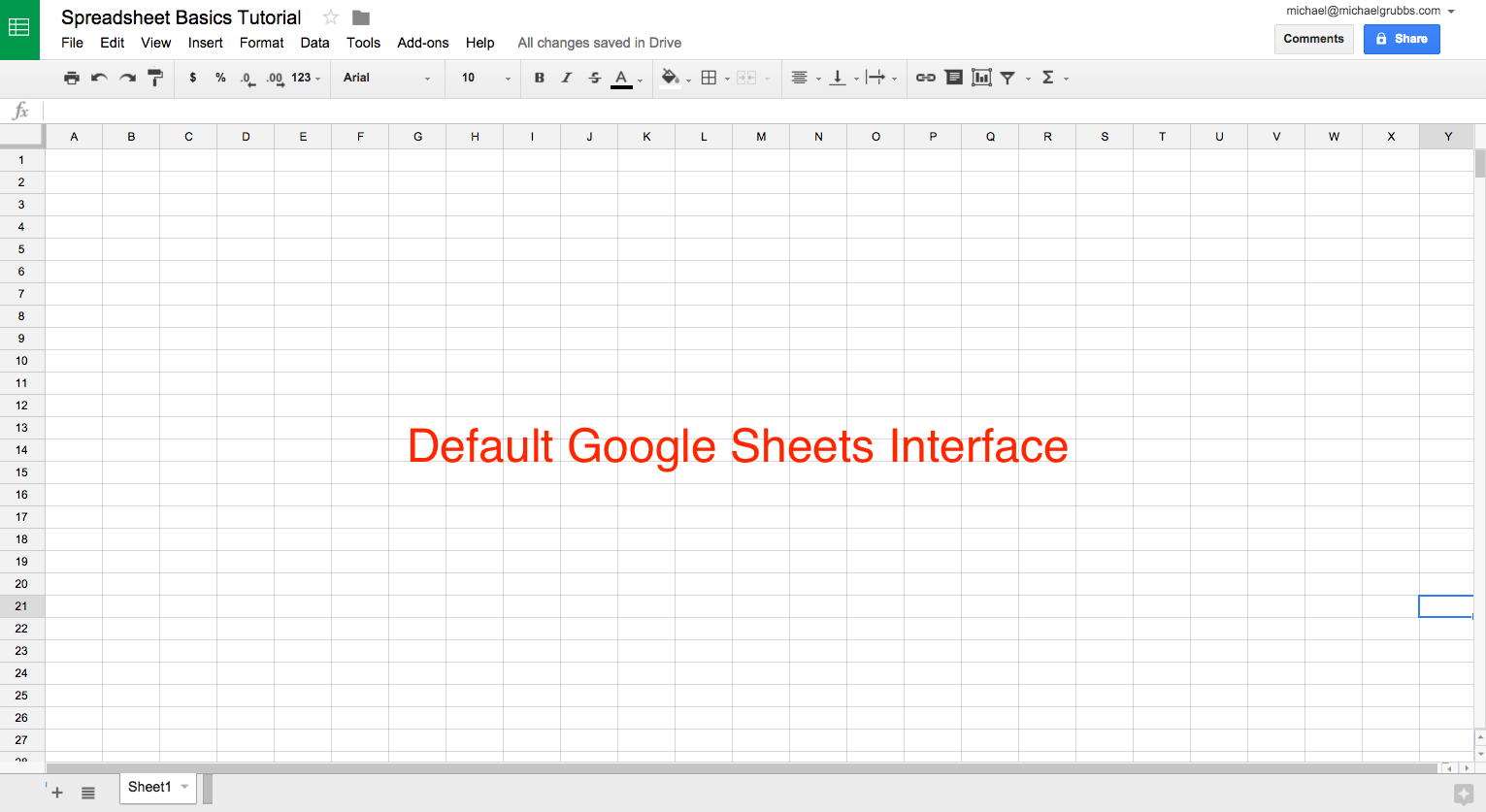 google spreadsheet basics tutorial