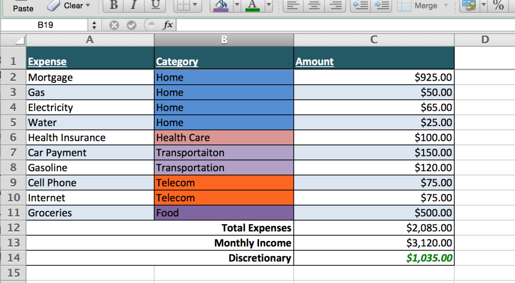 household budget planner spreadsheet