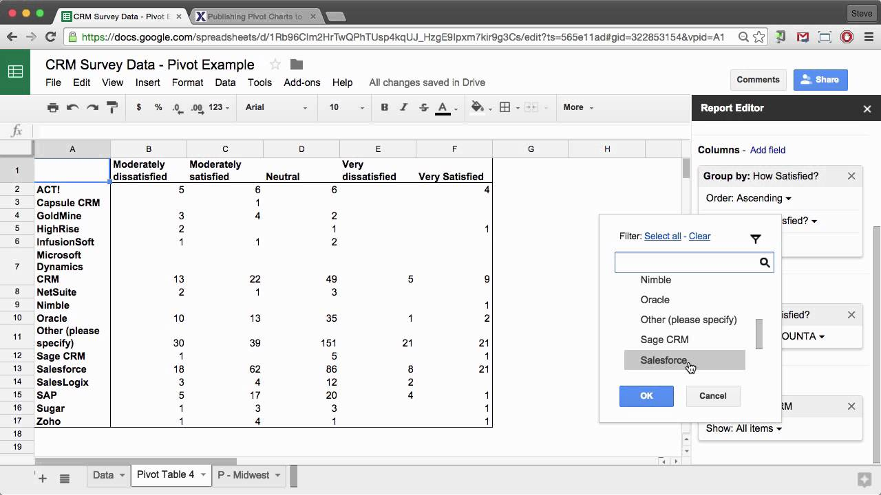 how to refresh pivot table in google sheets