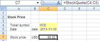 import stock prices into excel 2013 download