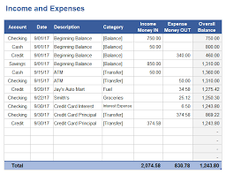 income and expenditure template for small business download