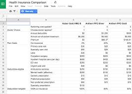 insurance spreadsheet template download