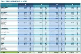 marketing budget template download