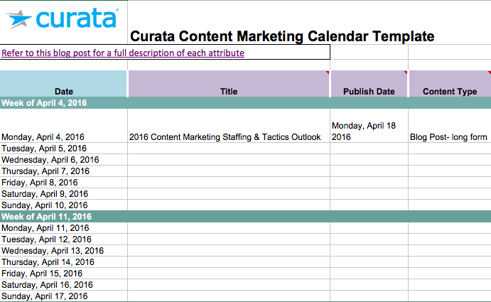 marketing tracking spreadsheet