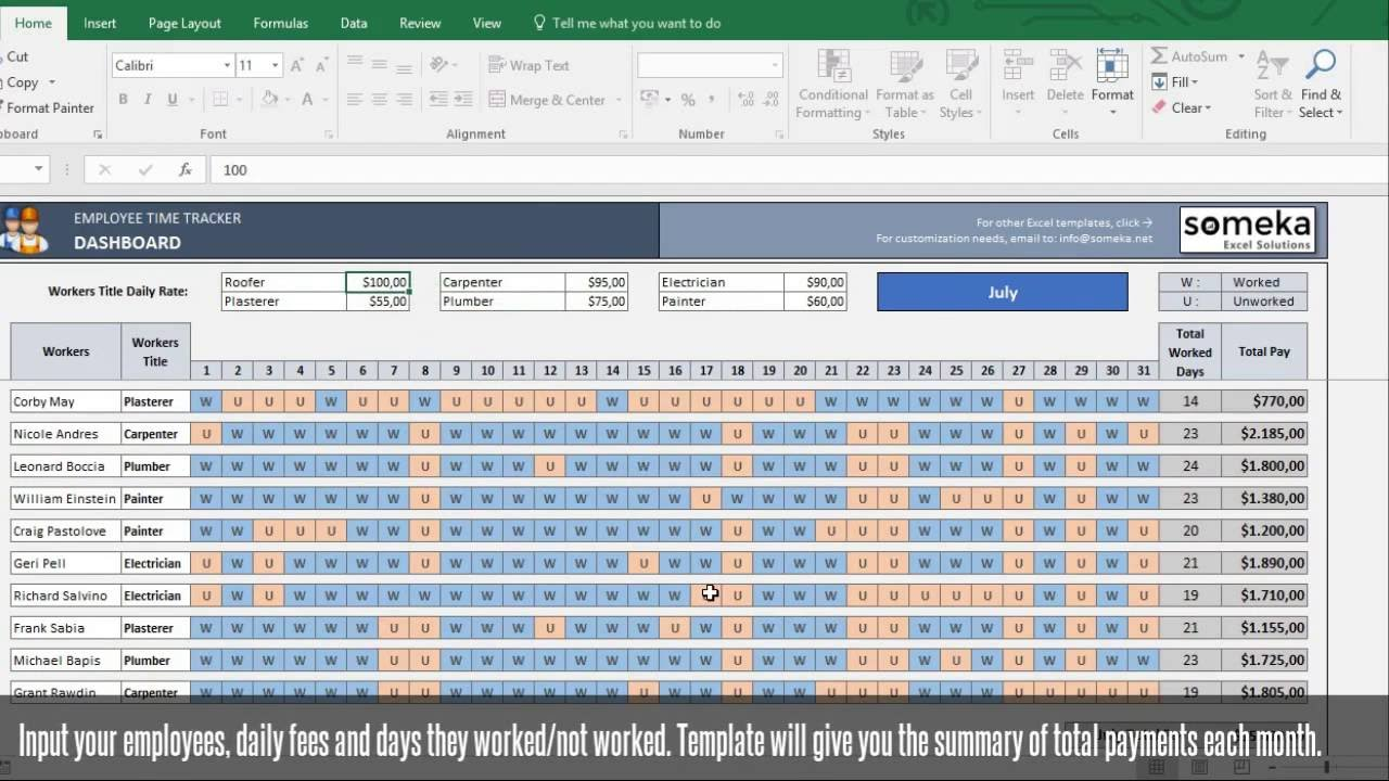 payroll templates for microsoft word