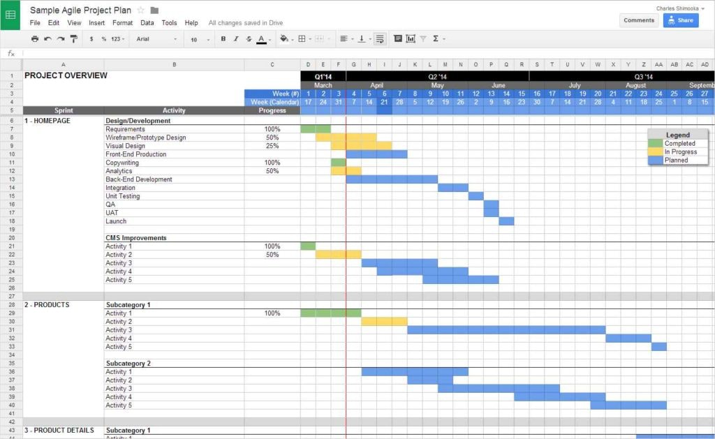 project management task template