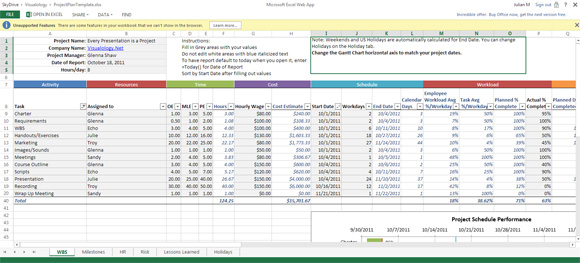 project management tracking dashboard excel