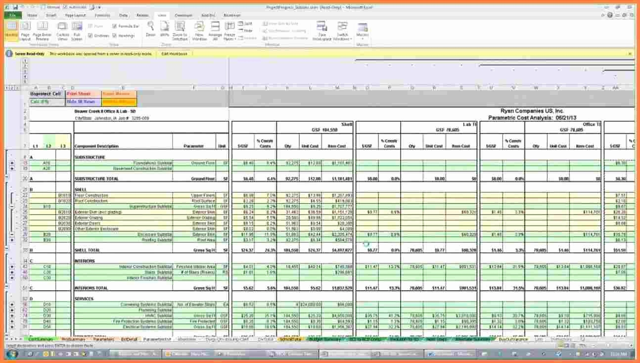 Excel spreadsheet for construction estimating for Residential building cost estimator