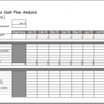 weekly cash flow analysis template