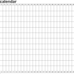 blank calendar in excel download