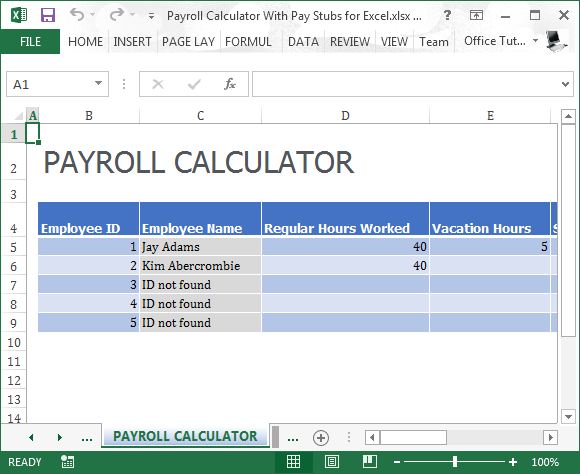 excel payroll template 2017