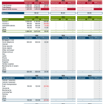 family household budget template excel