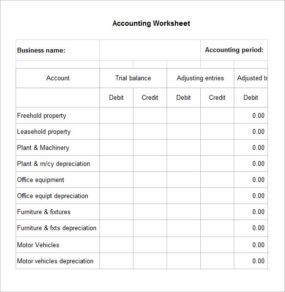 free excel accounting spreadsheet template