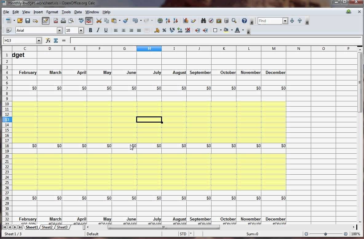how to create a weekly budget in excel