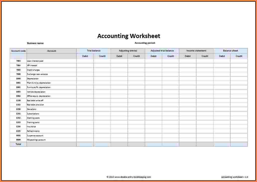 how to create an accounting spreadsheet