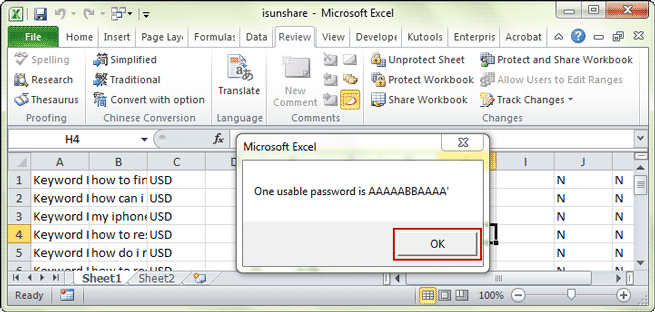 how to unlock a shared excel spreadsheet