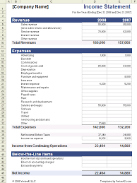 income statement format excel download