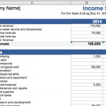 income statement small business