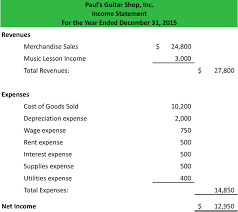 income statement template word download